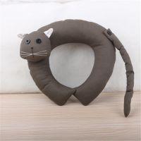 动物U形枕毛绒玩具 车家居两用型新款礼品 卡通猫造型棉布 U枕