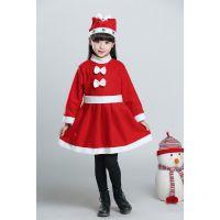 儿童圣诞节服装 圣诞老人服装扮 男女童表演衣服男童出圣诞节儿童