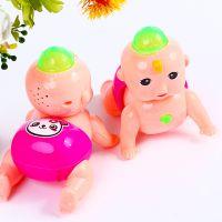 新款电动小爬娃0-3-6岁宝宝发光好玩的儿童爬行玩具地摊货源批发