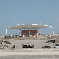 大跨度雨棚 学校操场膜结构体育看台 操场遮阳棚制作