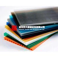 钢结构阳光板_透明湖蓝草绿茶色乳白_东莞大唐阳光板厂家