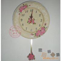 欧佰纳日韩外贸原单时钟蕾丝花边玫瑰节日礼品钟表挂钟厂家批发