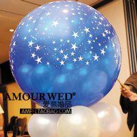 90cm 高质量印花气球婚礼庆典专用爆破装饰气球婚礼布置QUG03