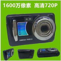 工厂新款数码相机摄像机礼品照相机1600万像素2.4寸屏外贸热销