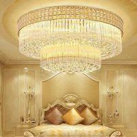 水晶灯客厅圆形LED吸顶灯现代简约卧室书房餐厅灯具蛋糕聚宝盆