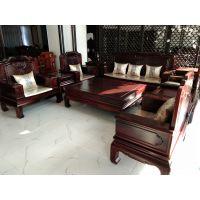 阔叶黄檀印尼黑酸枝客厅金如意10件套沙发
