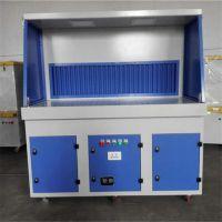重庆家具打磨平台实恒一体式打磨除尘工作台粉尘净化设备