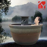 景德镇定做陶瓷大缸内洗浴缸日式成人泡澡缸 定制陶瓷洗浴大缸