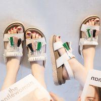 一件代发2018新款凉鞋女夏季平底学生鞋韩版百搭松糕厚底流苏罗马