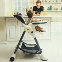 Pouch欧式婴儿餐椅儿童多功能宝宝餐椅可折叠吃饭桌椅 K05