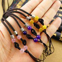 四个圆珠项链毛衣链绳 手工编织佩绳黄金翡翠蜜蜡吊坠挂项链绳配
