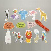 韩版动物集合派对彩旗生日节庆聚会纸质装饰品