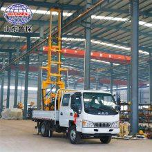 鲁探大型轻卡车载式地质勘探钻机设备XYC-200全自动液压钻井机挖井机
