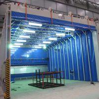 家具厂喷漆房 尺寸 特点 新迈环保废气处理设备移动伸缩喷漆房厂家
