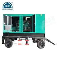 河南发电机组厂家供应移动静音电站 拖车移动型柴油发电机组 防雨降噪