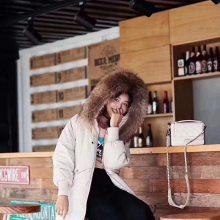 【Anni's Dream】2019新款羽绒服中长款毛领品牌女装折扣反季批发