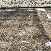 供应pvc覆塑格宾网箱 耐腐蚀锌铝合金绿滨垫 固堤护岸石笼网
