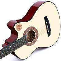 38寸初学者吉他民谣木吉它入门练习新手男女学生6弦乐器原木色