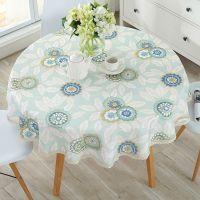 大圆桌桌布防水防烫防油免洗餐桌布艺棉麻小清新小圆形台布垫家用