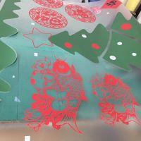 深圳圣诞老人店铺橱窗玻璃圣诞节幼儿园卡通装饰场景贴纸墙贴多少钱