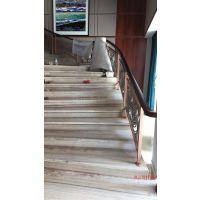 东阳新设计铝板雕花护栏弧形别墅楼梯护栏多少钱一米