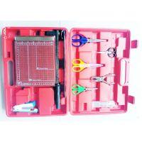 中控定位纸工工具 美术定位纸工工具 带裁纸刀 勇试 红色