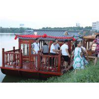 仿古画舫船 景区观光木船 餐饮船 电动画舫船制造厂家哪里有