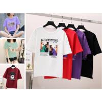 新款女士T恤韩版纯棉T恤大版女装短袖夏季走江湖跑量T恤货源批发3-5元