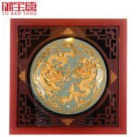 漆线雕工厂直销哥窑8寸盘送老师送领导礼物家居办公摆件旅游纪念