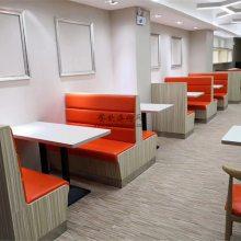粤式风味餐厅卡座沙发桌子定做,粤式餐厅家具直销
