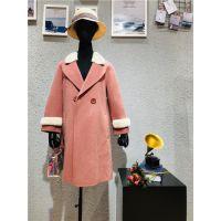 水芙蓉品牌阿尔巴卡双面羊驼绒大衣品牌折扣女装批发