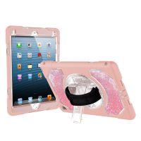 适用苹果iPad air2平板防摔保护壳 女款液体流沙平板硅胶保护套