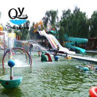 广州沁洋水上乐园设备厂家定制户外室内儿童游乐戏水小品彩虹喷水柱廊