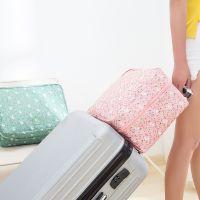 日系田园风行李包清新衣物收纳整理袋差旅物品收纳包大容量手提包