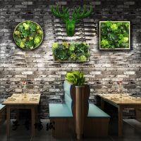 定做壁挂多肉植物仿真组合挂件电表箱遮挡立体鹿头工业风墙面装饰