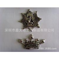 定制八角形标牌 皇冠标牌定做 铅锡合金标牌制作 合金首饰定做厂