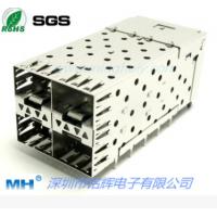 供应高品质2X2带导光柱 SFP光纤连接器 压接式SFP插座 MH连接器