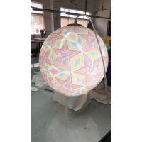 飞剑亚克力制造花式吊灯 商场装饰吊球 有机玻璃粉花LDE灯吊球