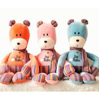 出口品质坐姿熊仔定制公仔企业吉祥物来图生产布绒娃娃