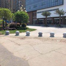 芜湖市哪里有40CM大理石圆球售楼部门口500mm隔离石墩圆形路障石球购买?