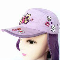 纯棉绣花披肩儿童帽