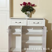 多层实木鞋柜客厅家具门厅柜大容量 储物柜收纳阳台柜可定制