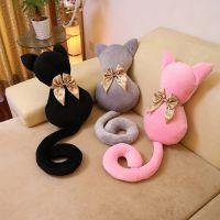 厂家直销 三色电视剧同款背影猫咪抱枕 毛绒玩具公仔礼品生日礼物