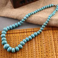 仿绿松石项链批发 非108颗佛珠藏银手串男女 中长款毛衣链
