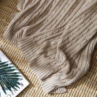 全棉针织毯单人双人纯棉沙发毛毯办公室午休空调盖毯午睡休闲毯子