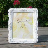 """10""""个性田园风格白色婚纱照片欧式相框相架像框立体浮雕玫瑰批发"""