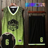 篮球服男新款球衣套装球服无袖夏季学生透气篮套装定制diy印字