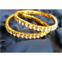 欧美单一排水钻弹力新娘手链 韩版单排满钻弹力水晶手链40颗