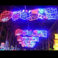 圣诞节3D铁艺造型灯饰  商业街公园走廊圣诞节灯饰吊饰 造型灯