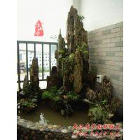 武汉睿阁园艺假山景观|庭院假山鱼池设计制作|千层石、英德石、吸水石